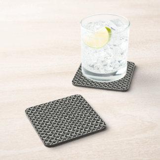 Steel Metal Mesh Pattern (faux) Beverage Coaster