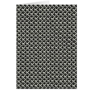 Steel Metal Mesh Pattern (faux) Card