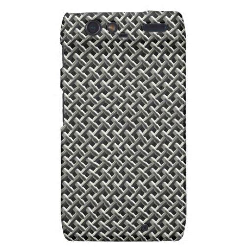 Steel Metal Mesh Pattern (faux) Droid RAZR Covers