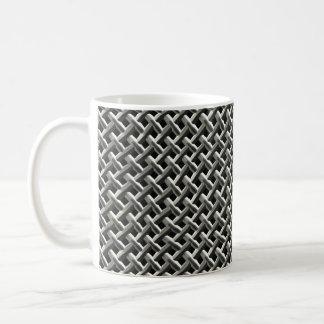 Steel Metal Mesh Pattern (faux) Coffee Mug