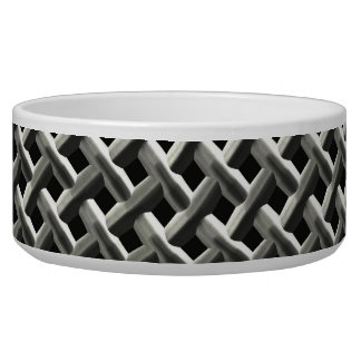 Steel Metal Mesh Pattern (faux) Pet Bowls