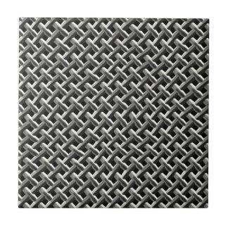 Steel Metal Mesh Pattern (faux) Small Square Tile