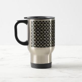 Steel Metal Mesh Pattern (faux) Travel Mug