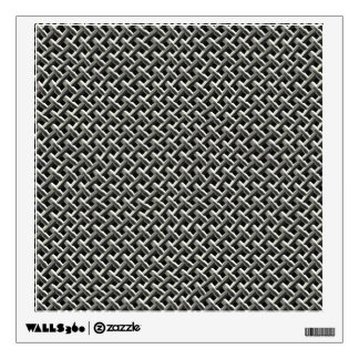 Steel Metal Mesh Pattern (faux) Wall Decal
