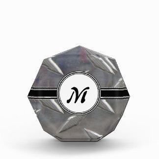 Steel Metal Monogram Pattern Acrylic Award