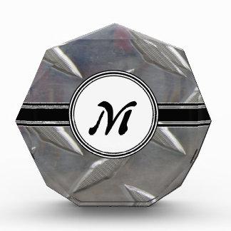 Steel Metal Monogram Pattern Award