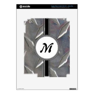 Steel Metal Monogram Pattern iPad 3 Skins