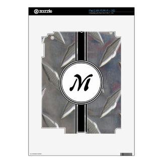 Steel Metal Monogram Pattern Skin For iPad 2
