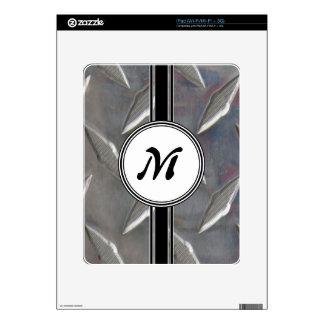Steel Metal Monogram Pattern Skins For The iPad