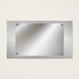 Steel Metal With Screws Business Cards