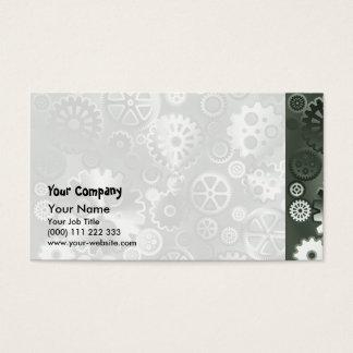 Steel metallic gears business card