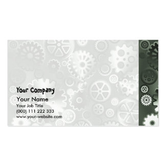 Steel metallic gears Double-Sided standard business cards (Pack of 100)