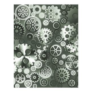 """Steel metallic gears 8.5"""" x 11"""" flyer"""