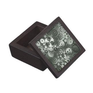 Steel metallic gears gift box