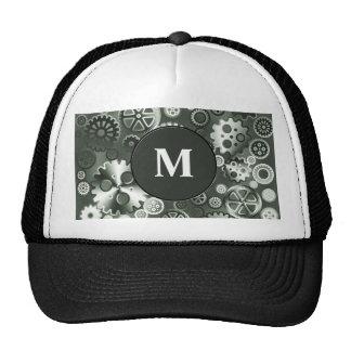 Steel metallic gears trucker hat