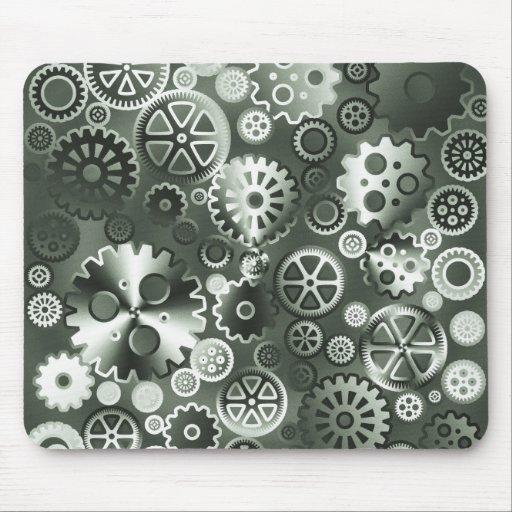 Steel metallic gears mouse pad