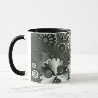 Steel metallic gears mug