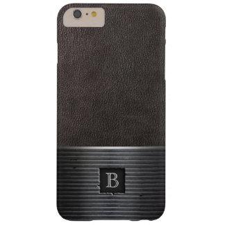 Steel Monogram Leather & Metal iPhone 6 Plus Case