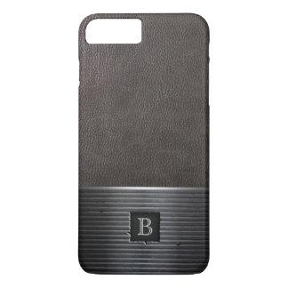 Steel Monogram Leather & Metal iPhone 7 Plus Case