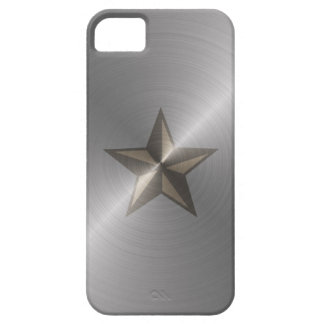 Steel Nautical Star iPhone 5 Cases