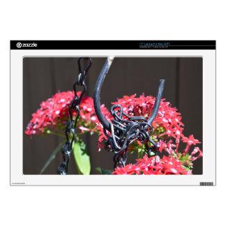 STEEL on FLOWER Laptop Decals