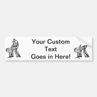 Steel Pan Player outline Bumper Stickers