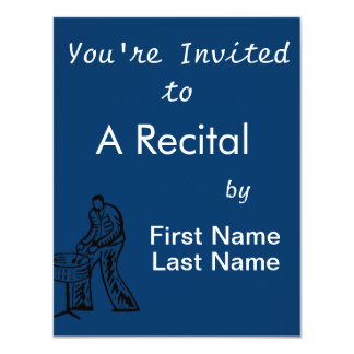 Steel Pan Player outline Card