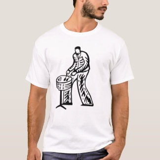 Steel Pan Player outline T-Shirt