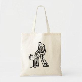 Steel Pan Player outline Tote Bag