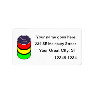 Steel Pan Rasta colors Steel Drum Design Graphic Custom Address Labels