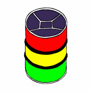 Steel Pan Rasta colors Steel Drum Design Graphic Acrylic Cut Out