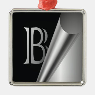 "Steel Peel Monogram ""B"" Metal Ornament"