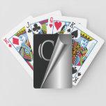 """Steel Peel Monogram """"C"""" Playing Cards"""