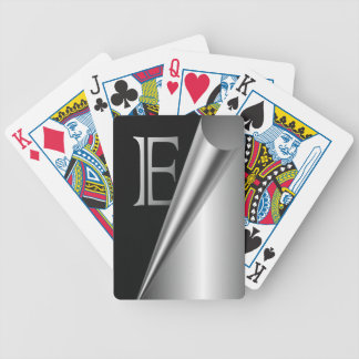 "Steel Peel Monogram ""E"" Bicycle Playing Cards"