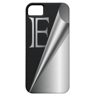 """Steel Peel Monogram """"E"""" iPhone SE/5/5s Case"""
