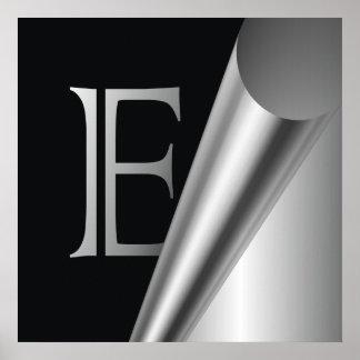 "Steel Peel Monogram ""E"" Poster"