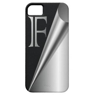 "Steel Peel Monogram ""F"" iPhone SE/5/5s Case"