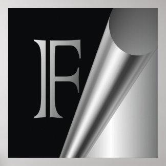 "Steel Peel Monogram ""F"" Poster"