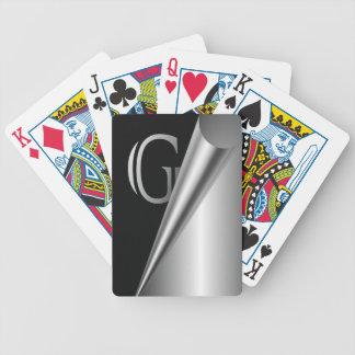 """Steel Peel Monogram """"G"""" Bicycle Playing Cards"""