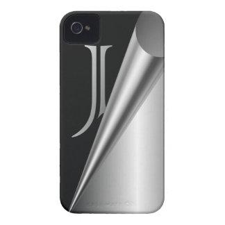 "Steel Peel Monogram ""J"" Case-Mate iPhone 4 Cases"