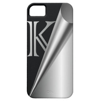 "Steel Peel Monogram ""K"" iPhone SE/5/5s Case"