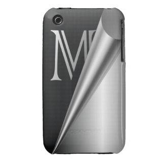 """Steel Peel Monogram """"M"""" Case-Mate iPhone 3 Case"""