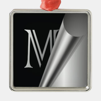"Steel Peel Monogram ""M"" Metal Ornament"
