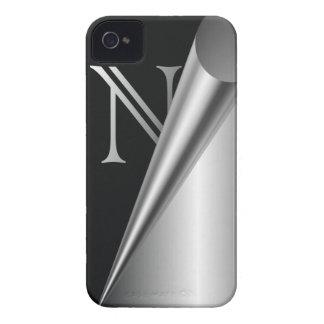 """Steel Peel Monogram """"N"""" iPhone 4 Cover"""