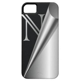 """Steel Peel Monogram """"N"""" iPhone SE/5/5s Case"""