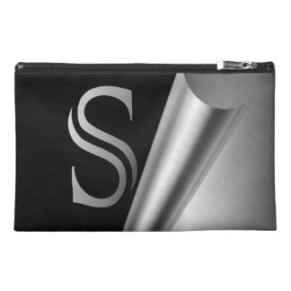 "Steel Peel Monogram ""S"" Travel Accessories Bag"