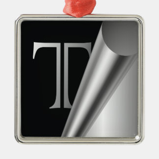 "Steel Peel Monogram ""T"" Metal Ornament"