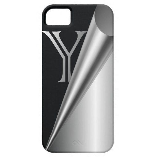 """Steel Peel Monogram """"Y"""" iPhone 5 Cover"""