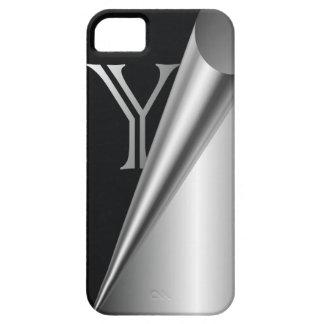 """Steel Peel Monogram """"Y"""" iPhone SE/5/5s Case"""
