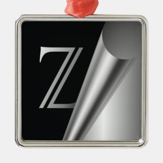 "Steel Peel Monogram ""Z"" Metal Ornament"